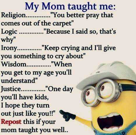Minion mom quote