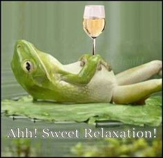 relax frog w drink
