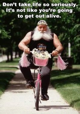 biker on pink bike