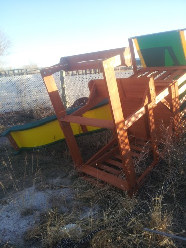 toppled playset