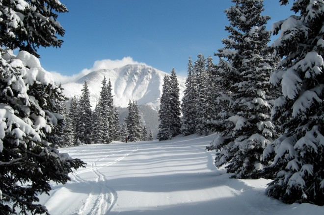 winter park snow scene