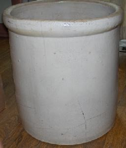 old canning crock