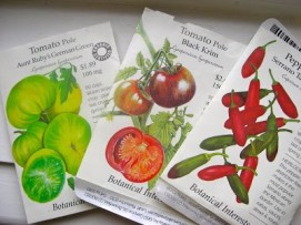 heirloom seed packets