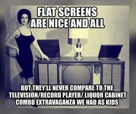 flat screen vs ours in the 60s